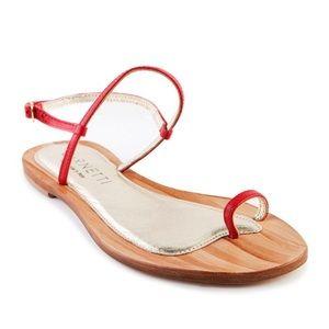 CoRNETTI | Women's Sardinia Red Leather Sandals
